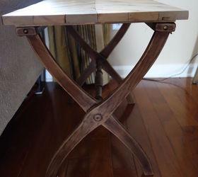 Folding Luggage Rack To Rustic Herringbone Side Table 30dayflip, Diy, How  To, Painted