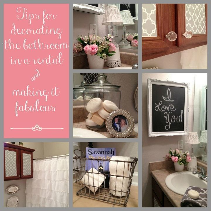 tips for decorating the bathroom in a rental house, bathroom ideas, home decor