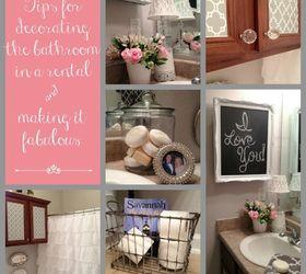 Lovely Tips For Decorating The Bathroom In A Rental House, Bathroom Ideas, Home  Decor