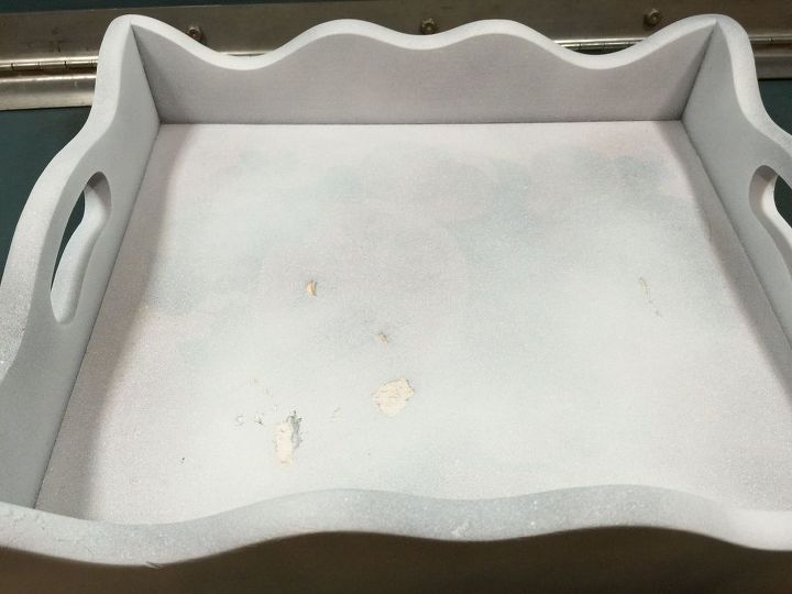 rustic look for thrift store tray, crafts, decoupage