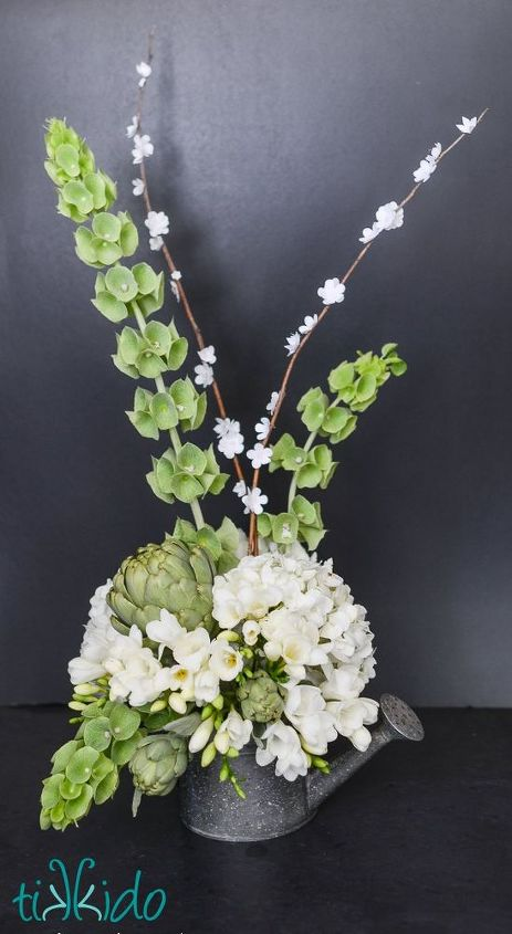 faux flowering spring branches tutorial, flowers, how to