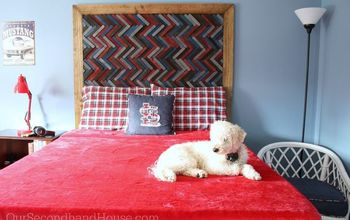 how to make a herringbone headboard, bedroom ideas, how to, woodworking projects