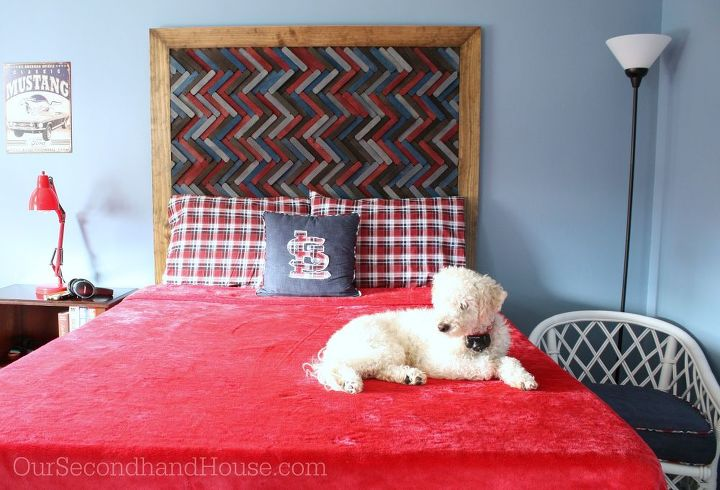 Do It Yourself Home Design: How To Make A Herringbone Headboard