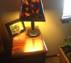 Re Do Of Old Lamp Shades So They Go With My Night Stand Redo, Crafts