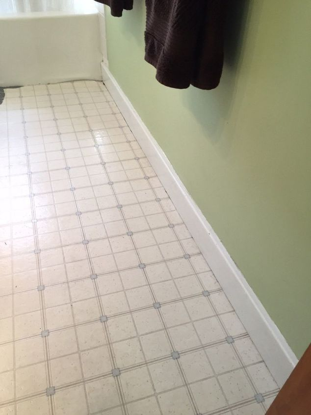 When Youre So Over Your Boring Bathroom Floor This Might Be The