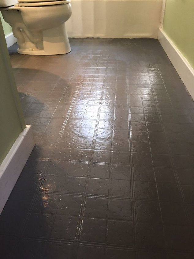 Bathroom Floor Tile Or Paint Ideas Diy Flooring Painting