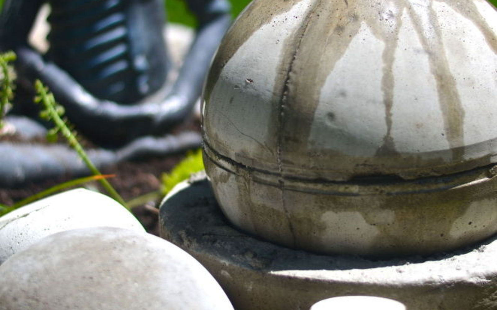 s 10 mini water features to add zen to your garden, outdoor living, ponds water features, Craft a globe shaped bubbling ball