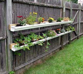 Plant In Old Gutters For Easy Watering