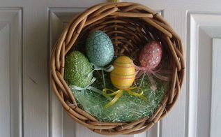 warm and crafty creations, crafts, easter decorations, seasonal holiday decor, wreaths