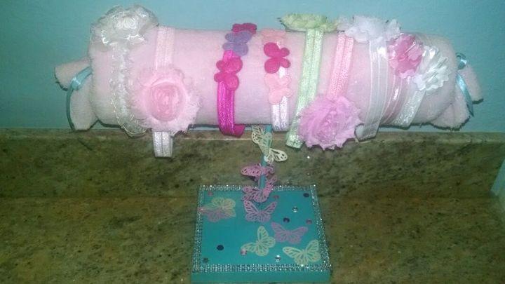 headband holder, crafts, organizing, repurposing upcycling