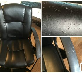 20 No Sew Office Chair Makeover, Painted Furniture, Reupholster
