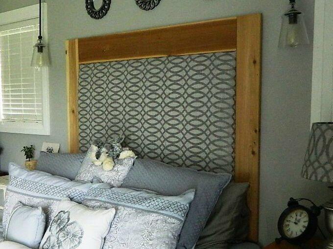 diy upholstered headboard, bedroom ideas, how to, reupholster