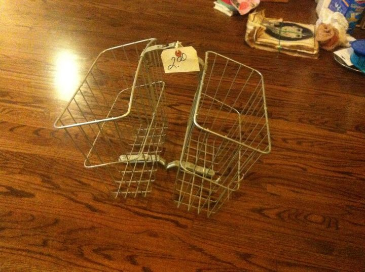 My $2 thrift store find: a bicycle basket.
