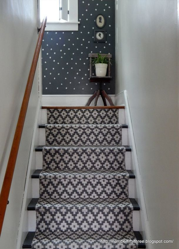 s 15 bold ways to redo your outdated staircase without remodeling, home improvement, stairs, Lay down a colorful runner