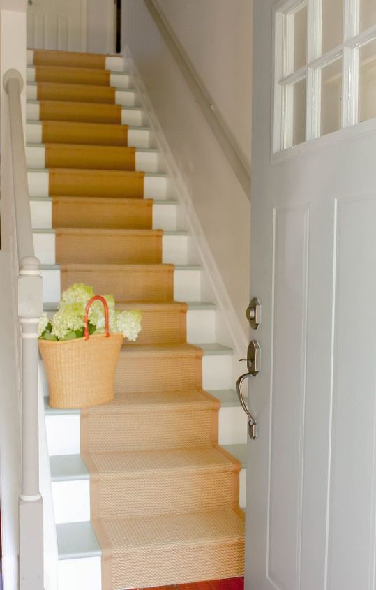 s 15 bold ways to redo your outdated staircase without remodeling, home improvement, stairs, Choose a soothing grey palette