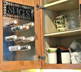 Make A Magnetic Board Inside Your Cabinet