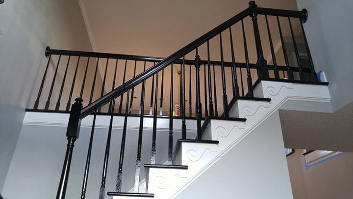 Lighting Basement Washroom Stairs: Putting A Runner On Staircase With Turn Platform
