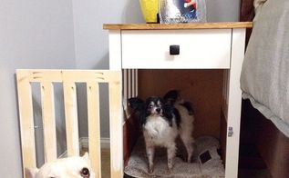 going to the dogs diy dog crate nightstands, diy, painted furniture, pets, pets animals, woodworking projects