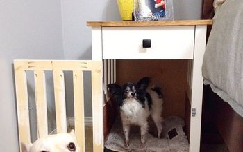 Going to the Dogs--DIY Dog Crate Nightstands