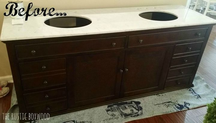 diy chalk painted bathroom vanity, chalk paint, painted furniture, rustic furniture