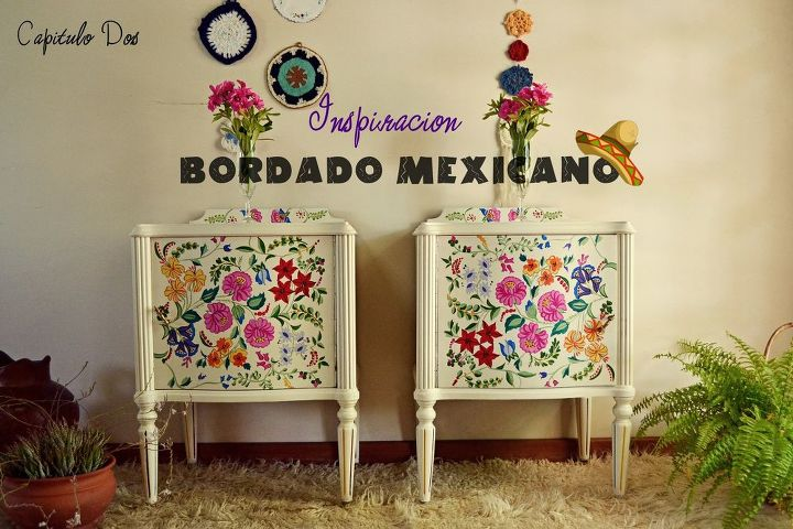 painted mexican furnitureHow Can I Liven up These Boring Nightstands  Hometalk