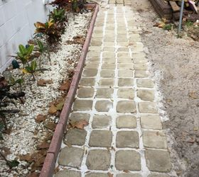 How We Made Stepping Stone Walkway From Ice Cream Buckets Hometalk