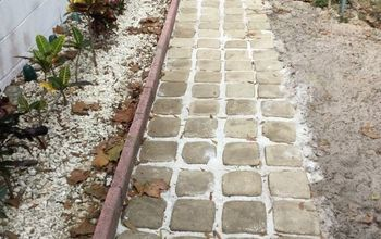 How We Made Stepping Stone Walkway From Ice Cream Buckets.