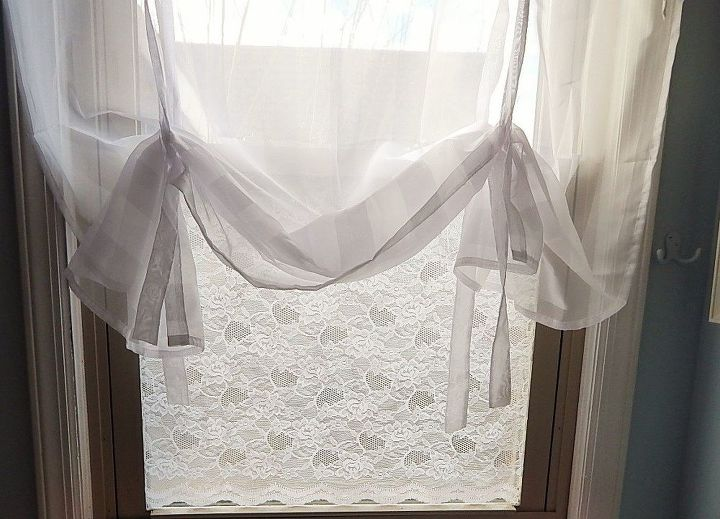 lace material on window for privacy pinterest, window treatments, windows