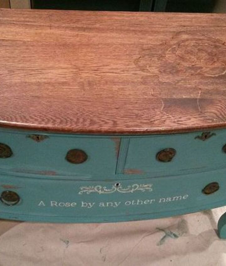 s 15 incredible furniture flips where the stain stole the show, painted furniture, This delicate barely there desk design