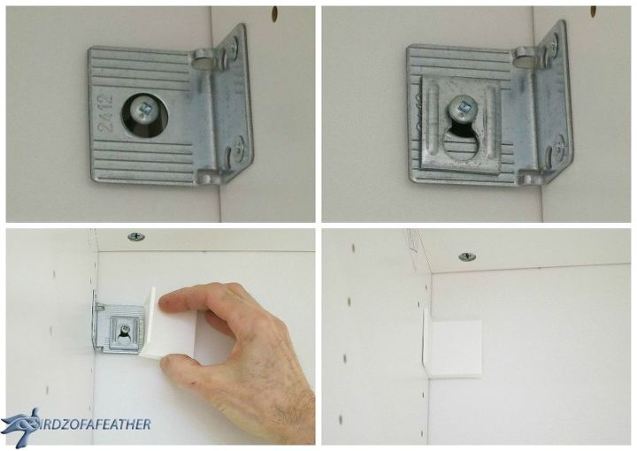 Securing units to wall; don't miss this step!