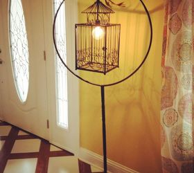 Birdcage Stand Wires Lamp, Painted Furniture