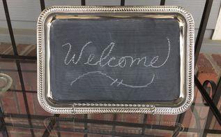 chalkboard message board, chalkboard paint, crafts, repurposing upcycling