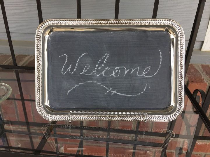 chalkboard message board, chalkboard paint, crafts, repurposing upcycling