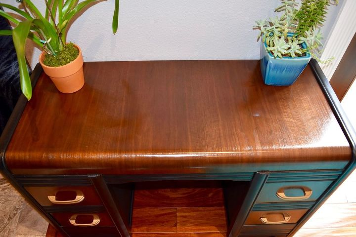 what would you do w this desk pass or fix it see how i fixed it, painted furniture