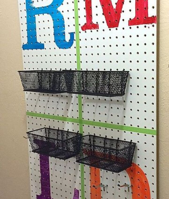 s 15 ways to organize every messy nook with pegboard, organizing, woodworking projects, Create a makeshift coat rack for the mudroom