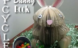 upcycled easter bunny book easter decoration, crafts, easter decorations, repurposing upcycling, seasonal holiday decor