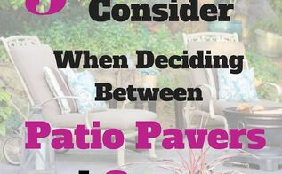 3 things to consider when deciding between patio pavers or concrete, concrete masonry, outdoor living, patio