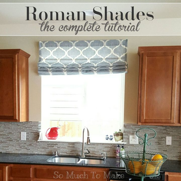 roman shades the complete tutorial, how to, reupholster, window treatments, windows