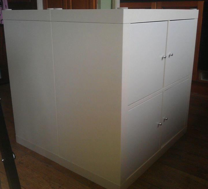 Ikea Expedit Kitchen: Kitchen Island With IKEA Expedit Bookshelves