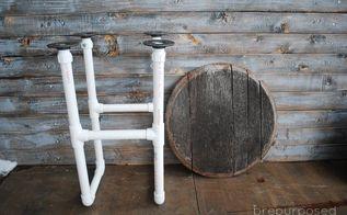 diy pvc pipe table, diy, how to, painted furniture, repurposing upcycling, rustic furniture