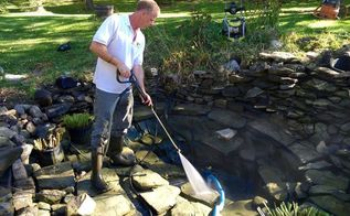 how to correctly clean a fish pond, cleaning tips, how to, outdoors cleaning, ponds water features