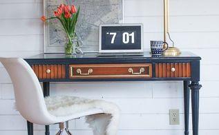 lane traditional desk makeover, painted furniture