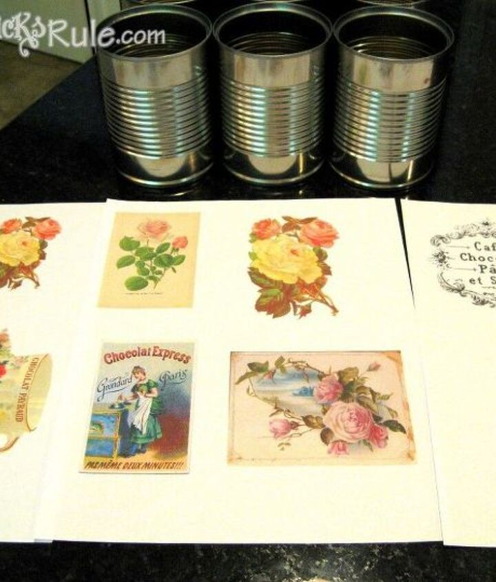 super easy vintage tin can for mother s day flowers, chalk paint, crafts, flowers