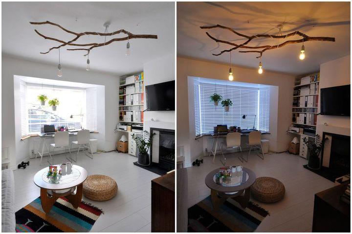 DIY Tree Branch Chandelier | Hometalk