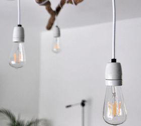 Diy Tree Branch Chandelier, Lighting, Repurposing Upcycling