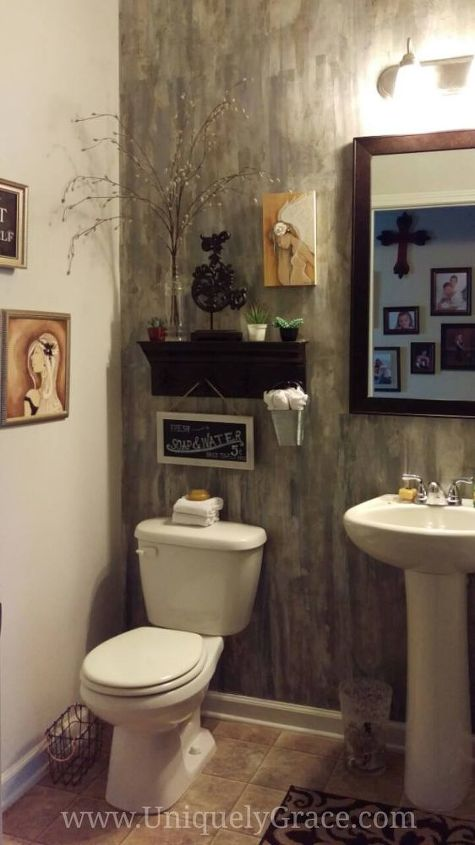 paint putty knife and a powder room, bathroom ideas, painting