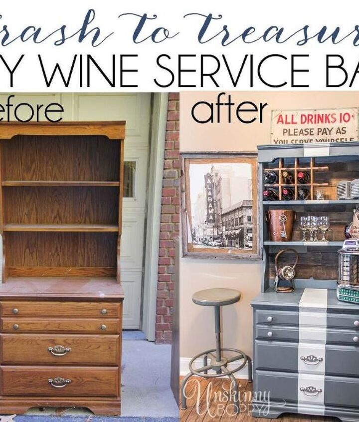 childhood dresser turned wine bar makeover at home bar, diy, painted furniture, repurposing upcycling, woodworking projects