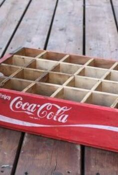diy nightstands vintage coke crates coca cola, bedroom ideas, diy, repurposing upcycling, rustic furniture