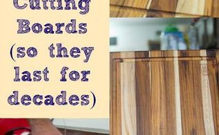 how to oil and clean wood cutting boards, cleaning tips, how to, kitchen design