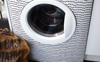 Washing Machine Makeover WITH FABRIC!